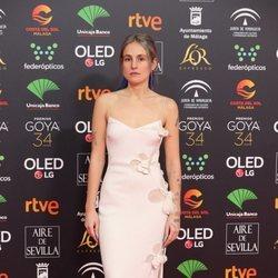 María Escarmiento en la alfombra roja de los Goya 2020