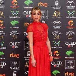 Ana Fernández en la alfombra roja de los Goya 2020