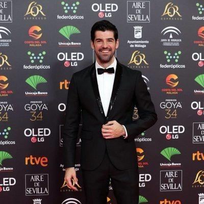 Miguel Ángel Muñoz en la alfombra roja de los Goya 2020