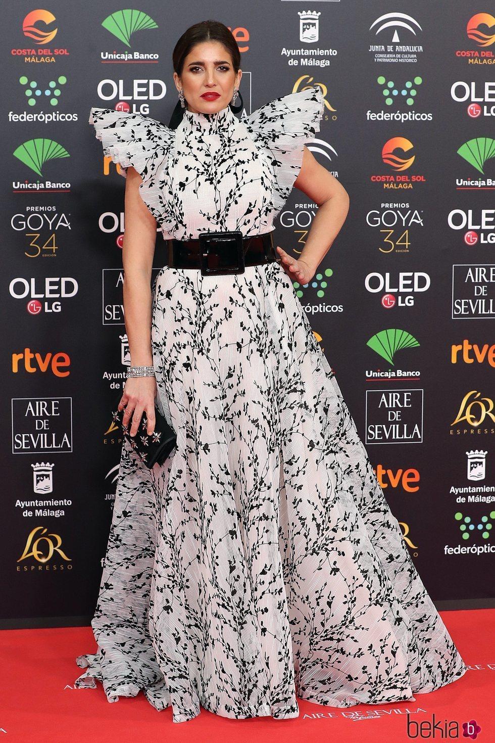 Lucía Jiménez en la alfombra roja de los Goya 2020