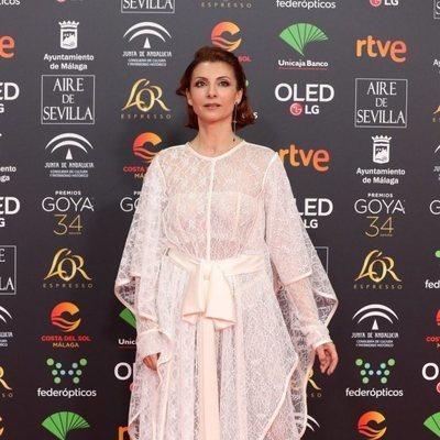 Najwa Nimri en la alfombra roja de los Goya 2020