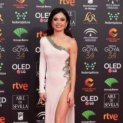 Anna Castillo en la alfombra roja de los Goya 2020