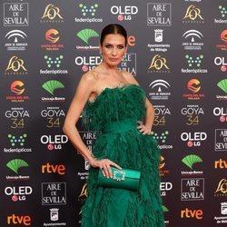 Nieves Álvarez en la alfombra roja de los Goya 2020