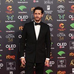Juan Diego Botto en la alfombra roja de los Goya 2020