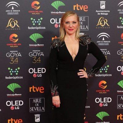 Pilar Castro en la alfombra roja de los Goya 2020