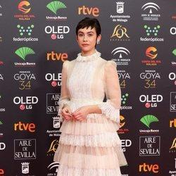 Greta Fernández en la alfombra roja de los Goya 2020