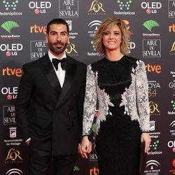 María Casado y Manuel Zamorano en la alfombra roja de los Goya 2020
