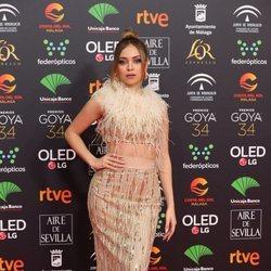 Ana Mena en la alfombra roja de los Goya 2020