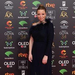 Ainhoa Santamaría en la alfombra roja de los Goya 2020