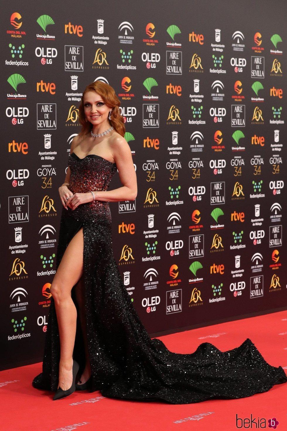 Cristina Castaño en la alfombra roja de los Goya 2020