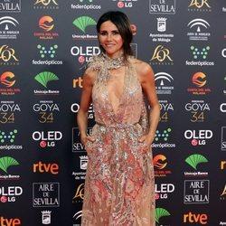 Goya Toledo en la alfombra roja de los Goya 2020