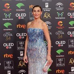 Mona Martínez en la alfombra roja de los Goya 2020