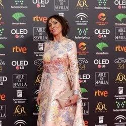 María Barranco en la alfombra roja de los Goya 2020