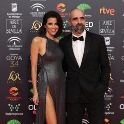 Luis Tosar y María Luisa Mayol en la alfombra roja de los Goya 2020