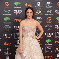 Tamara Falcó en la alfombra roja de los Goya 2020