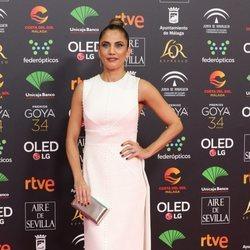 Toni Acosta en la alfombra roja de los Goya 2020