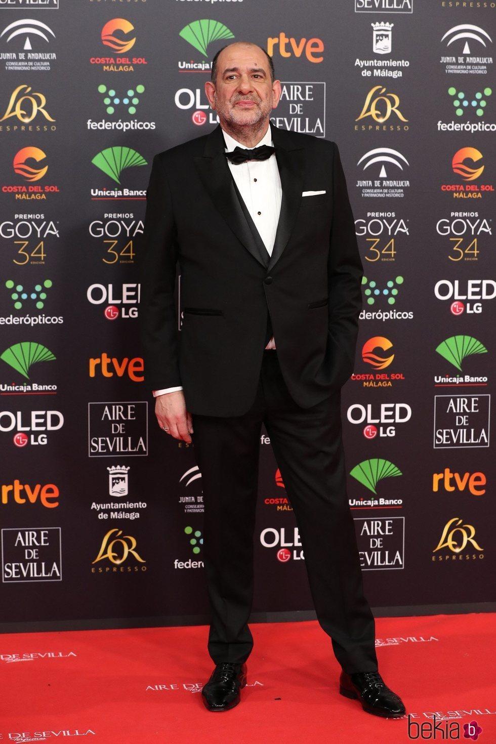 Karra Elejalde en la alfombra roja de los Goya 2020