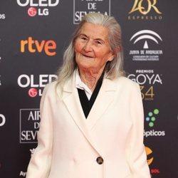 Benedicta Sánchez en la alfombra roja de los Goya 2020