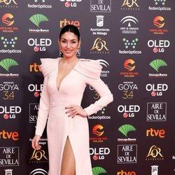 Celia Flores en la alfombra roja de los Goya 2020