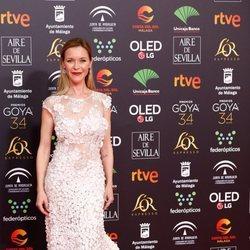 María Esteve en la alfombra roja de los Goya 2020