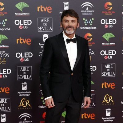 Fernando Tejero en la alfombra roja de los Goya 2020