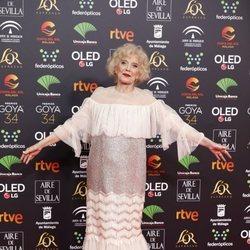 Marisa Paredes en la alfombra roja de los Goya 2020