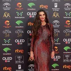 Ángela Molina en la alfombra roja de los Goya 2020