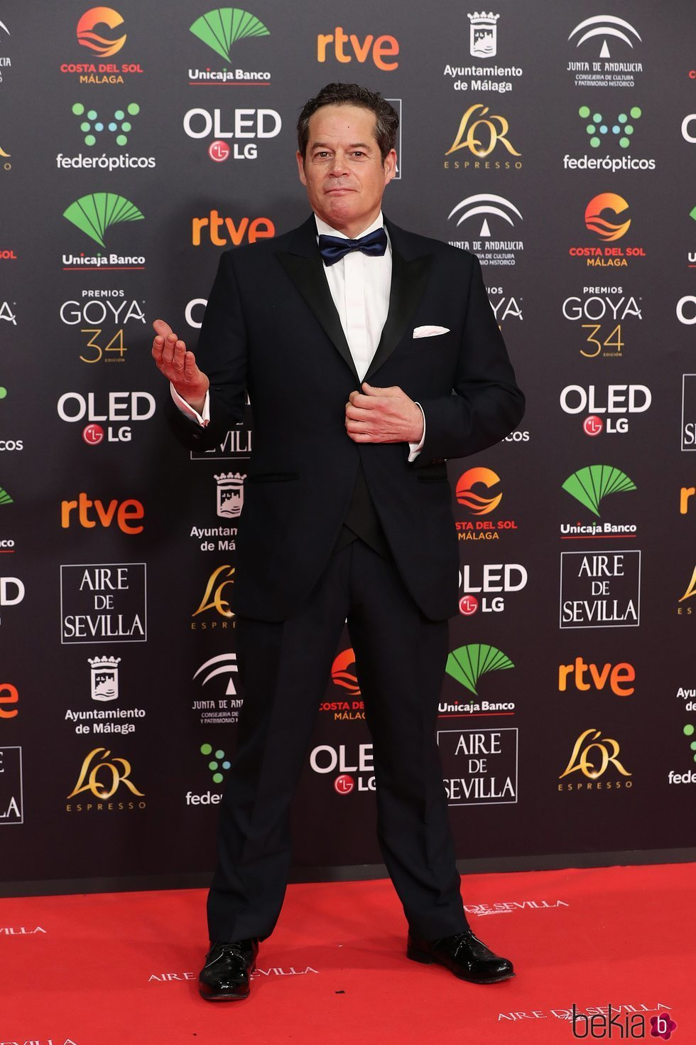 Jorge Sanz en la alfombra roja de los Goya 2020