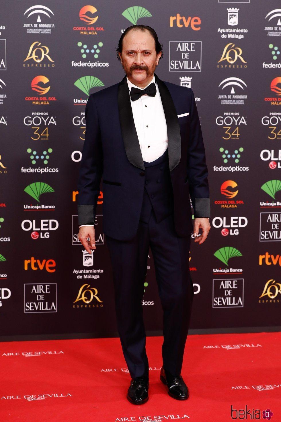 Luis Callejo en la alfombra roja de los Goya 2020
