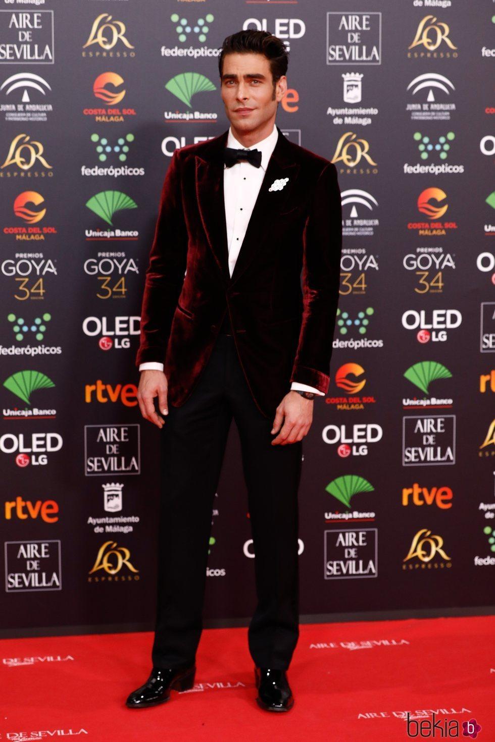 Jon Kortajarena en la alfombra roja de los Goya 2020