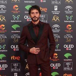 Paco León en la alfombra roja de los Goya 2020