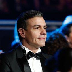 Pedro Sánchez viendo la gala de los Goya 2020