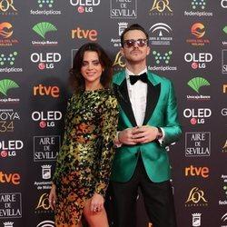 Macarena Gómez y Aldo Comas en la alfombra roja de los Goya 2020