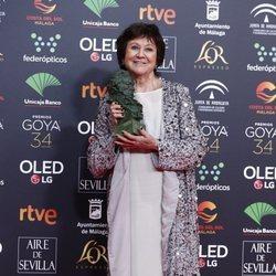 Julieta Serrano con su Goya a Mejor Actriz de Reparto
