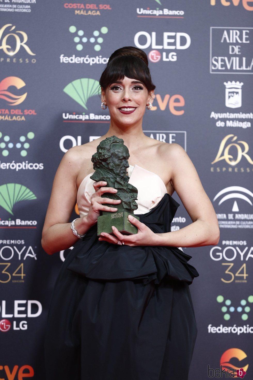 Belén Cuesta con su Goya a Mejor Actriz de Reparto por 'La trinchera infinita'