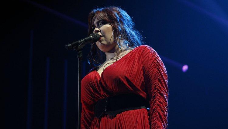 Ariadna durante su actuación en la Gala 2 de 'OT 2020'
