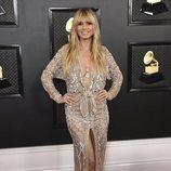 Heidi Klum en la alfombra roja de los Premios Grammy 2020