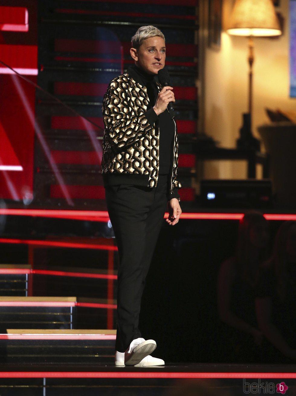 Ellen DeGeneres en la gala de los Premios Grammy 2020