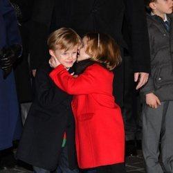 Jacques y Gabriella de Mónaco, muy cómplices en Santa Devota 2020