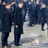 El Gran Duque de Luxemburgo y Xavier Bettel en el 75 aniversario de la liberación de Auschwitz-Birkenau