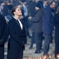 Victoria de Suecia en el 75 aniversario de la liberación de Auschwitz-Birkenau