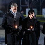 Los Reyes Felipe y Letizia depositan velas en el 75 aniversario de la liberación de Auschwitz-Birkenau