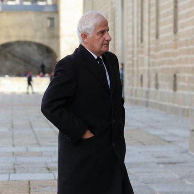 El Duque de Alba en el funeral de la Infanta Pilar en El Escorial