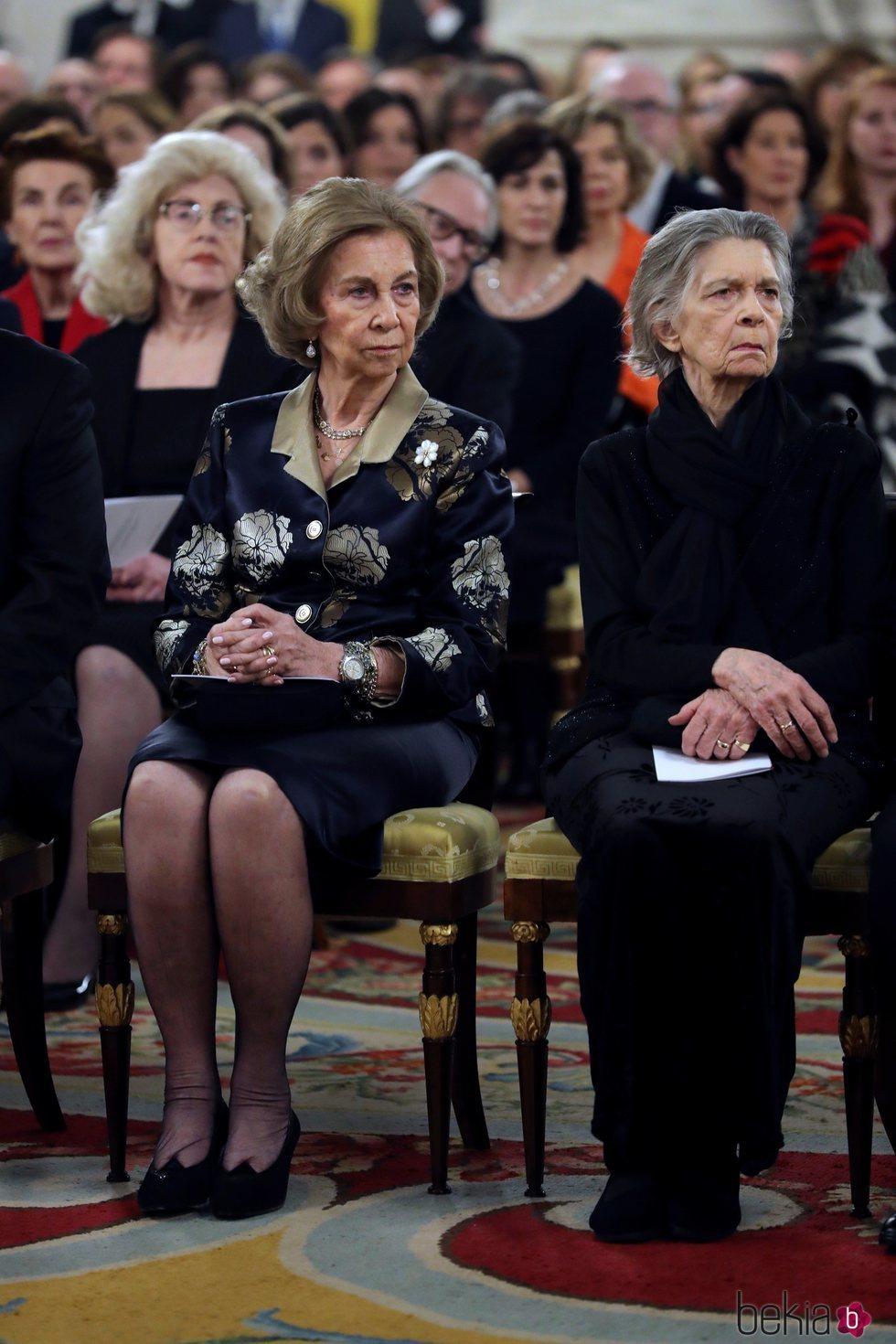 La Reina Sofía en un concierto en homenaje a las víctimas del Holocausto