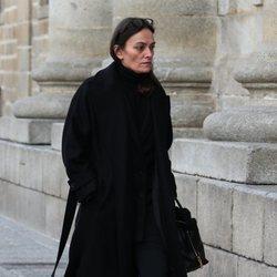 Laura Ponte en el funeral de la Infanta Pilar en El Escorial