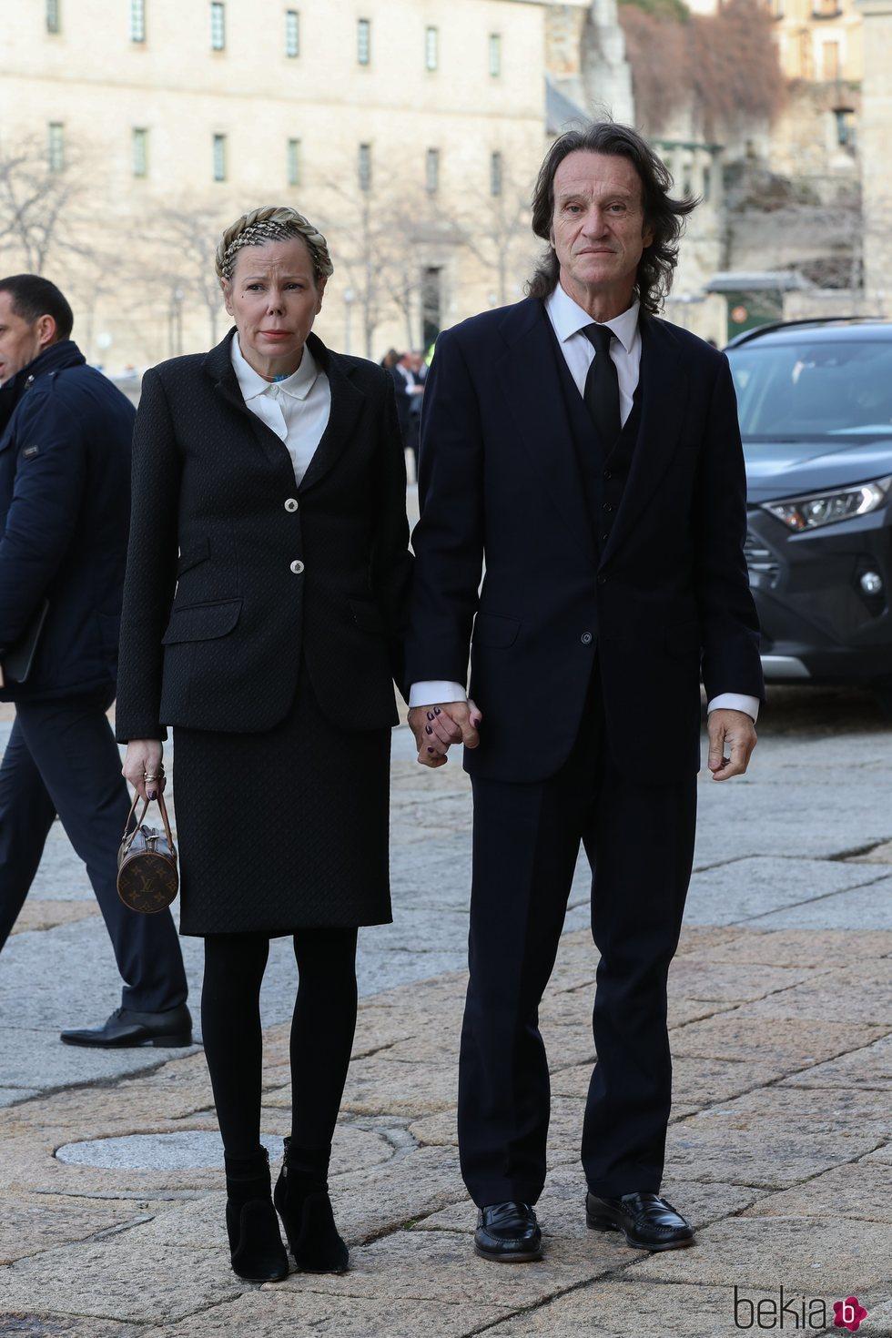 Kalina de Bulgaria y Kitín Muñoz en el funeral de la Infanta Pilar en El Escorial