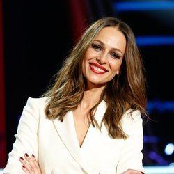 Eva González en la presentación de 'La Voz' 2020
