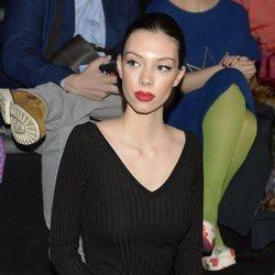 Alejandra Rubio antes de desfilar para Ágatha Ruiz de la Prada en la Madrid Fashion Week