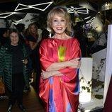 Mila Ximénez después de desfilar con la colección de Ágatha Ruiz de la Prada en la Madrid Fashion Week