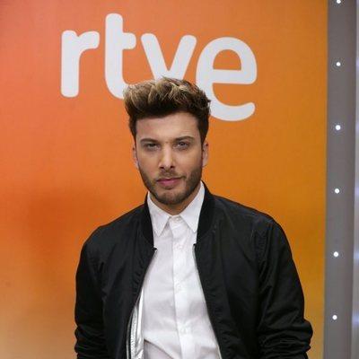Blas Cantó en la presentación de 'Universo', canción para Eurovisión 2020